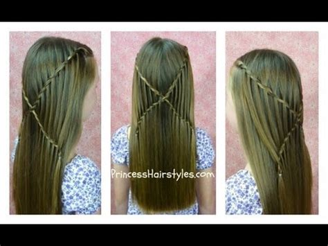 how to waterfall braid step by step how to do criss cross waterfall twist braid hairstyles