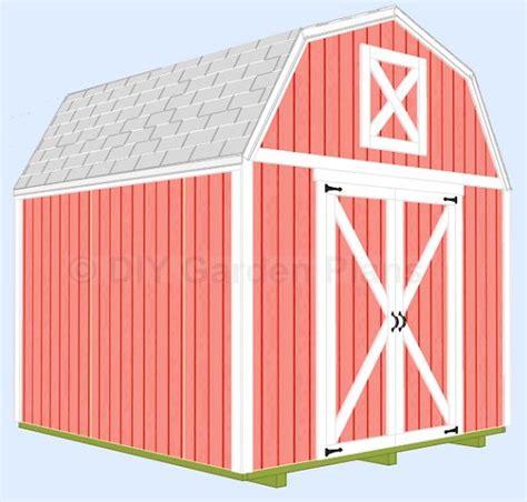 gambrel shed  loft diy shed plans building