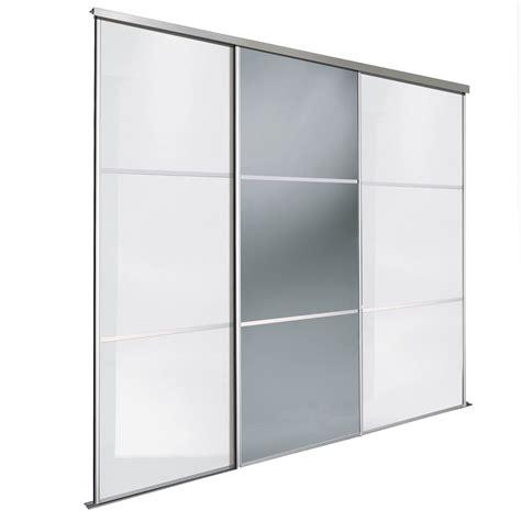 premium select white smoked grey mirror sliding wardrobe