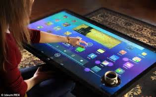 Coffee Table Touch Screen Computer Ideum Touchscreen Table Will Play Apps And