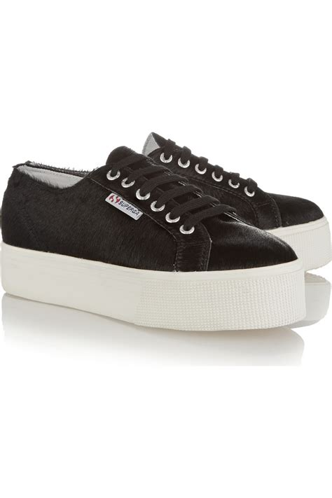 pony hair sneakers superga pony hair sneakers in black lyst