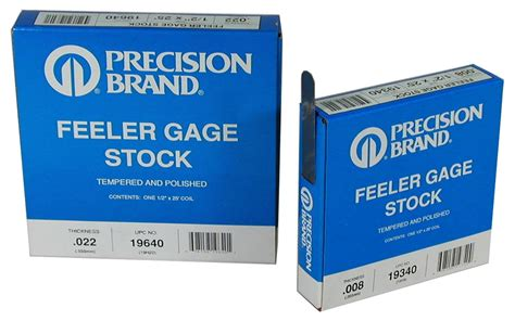 Feeler Mitutoyo 0 013 quot steel feeler gage 1 2 quot x 25 coil precision brand