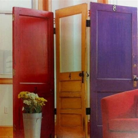 room dividers made from doors use doors to make a room divider furniture new