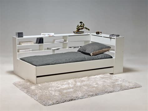 Formidable Decoration Tete De Lit #9: L001MLI6010603-0403-2250-p02-lit-combine-90x190cm-etageres-tiroir-sommier-bois-blanc-cornimont.jpg