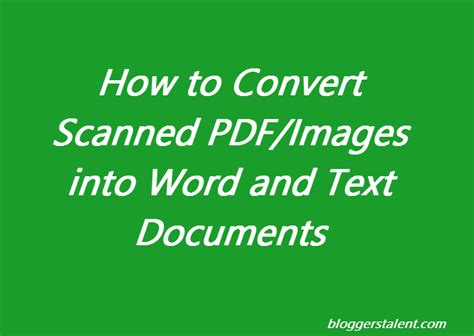 How To Convert Scanned Pdf To Word Youtube | how to convert scanned images pdf into word and text