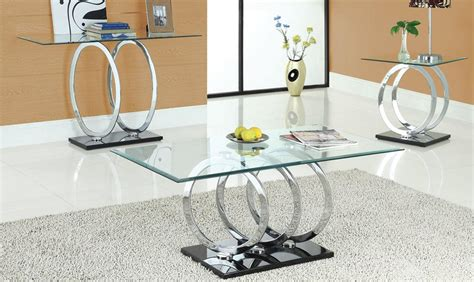 Glass Coffee Table Set Modern Glass Coffee Table Sets