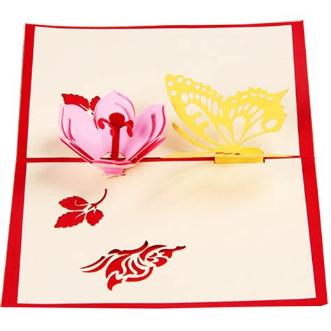 Origami Pop Up Greeting Cards - butterfly flower handmade origami 3d pop up greeting