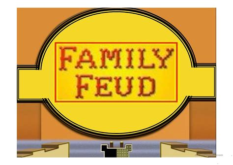 Family Feud Game Power Point Template Worksheet Free Esl Family Fued Power Point