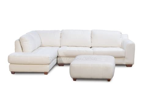 zen white leather sectional sofa with chaise laf by z mod