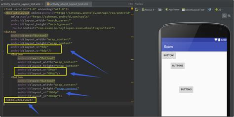 android studio absolutelayout android开发自学笔记 android studio 4 1布局组件 圣光下的囚徒 博客园