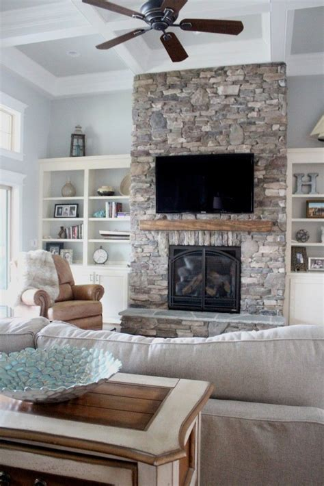 stone with built ins stone fire places homesfeed
