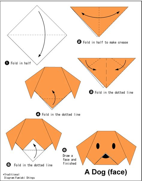 How To Make A Paper Puppy - easy origami for crafts