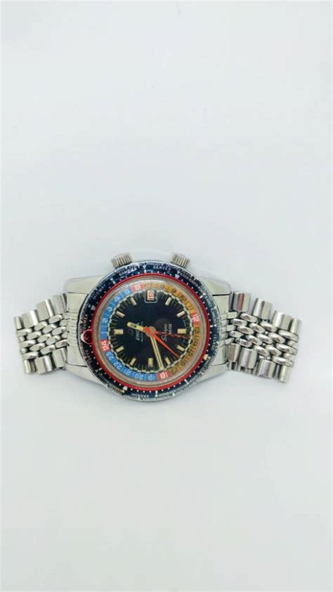 Bor Gmt 1969 enicar sherpa guide gmt with bor bracelet