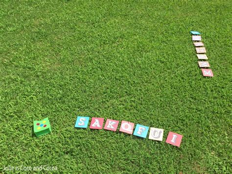 Diy Backyard Scrabble by Diy Outdoor Word Julie Measures