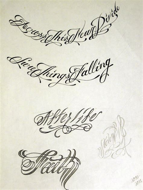 tattoo designs script script 2 by stevenworthey on deviantart