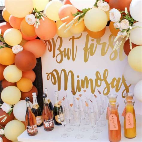 early bridal shower ideas morning mimosa bridal shower bridal shower ideas themes