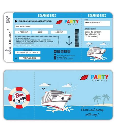 hochzeitseinladung festivalticket einladungskarte schiff kreutzfahrt ticket bordkarte