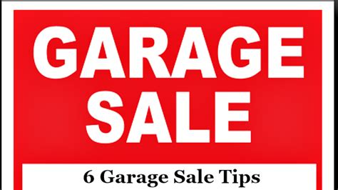 Garage Sale Buying Tips by 6 Garage Sale Tips The Write Balance