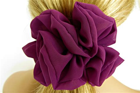 hair chiffon purple hair scrunchie 112 chiffon hair accessories