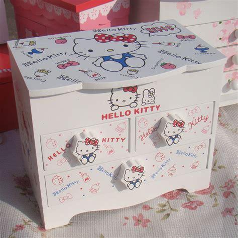 6211 Storage Rak Kosmetik Bahan Kayu Hellokitty Rak Kosmetik Hk warna putih hello penyimpanan kayu kotak perhiasan hadiah kotak perhiasan id produk