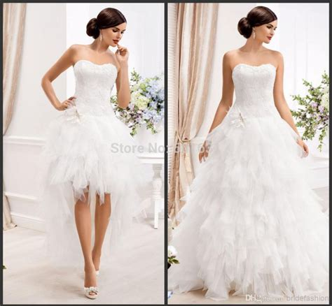 Ebay Wedding Dresses by Detachable Strapless Two Pieces Tulle A Line Wedding Dress