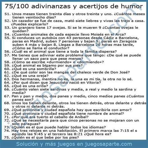 75 fantsticos acertijos de 1508999872 100 adivinanzas y acertijos de humor
