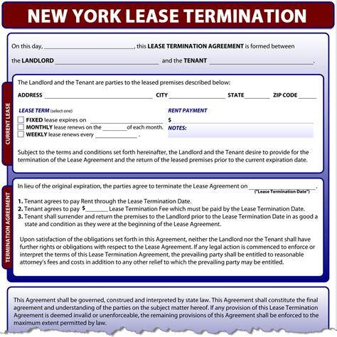 sle eviction notice new york state new york lease termination
