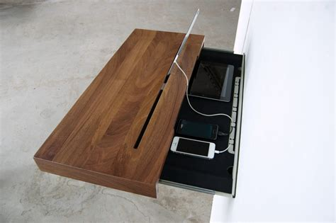 Spell Drawer by Secret Storage Smart Device Charging Shelf Hides Cords