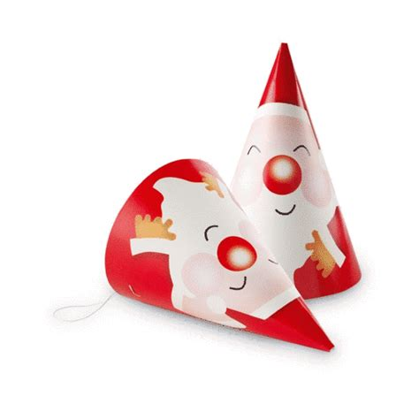 promotional set of 6 paper xmas party hats christmas