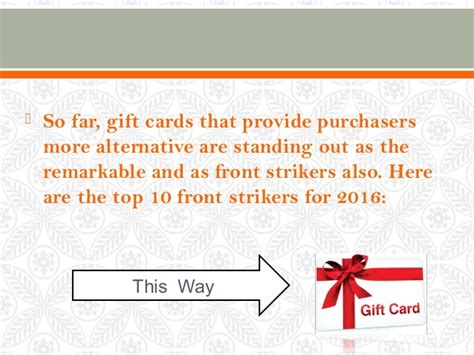 Gift Card Trends 2016 - the most popular gift cards for 2016