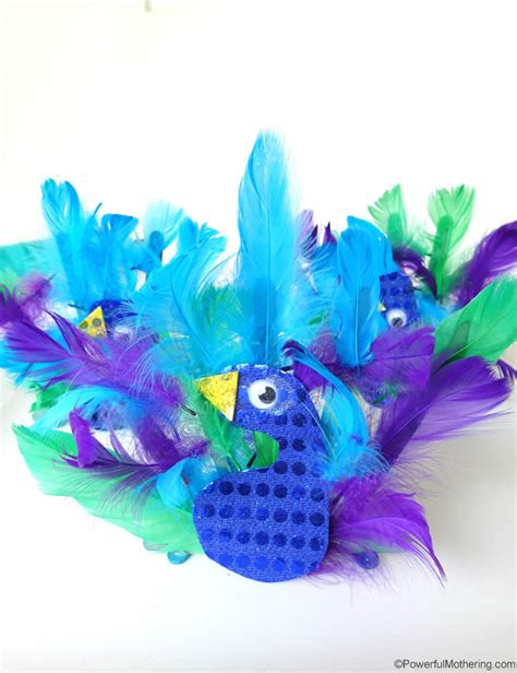 peacock craft for peacock animal craft