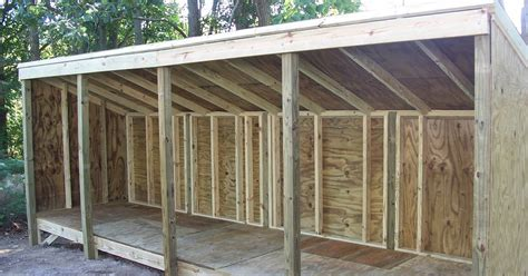 guide wood storage lean to shed plans ins