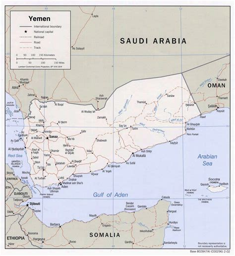 printable map of yemen detailed political map of yemen with roads and cities