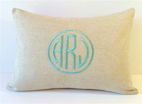 Circle Of Pillows by Linen Circle Monogram Pillow Cover Decorative Pillow