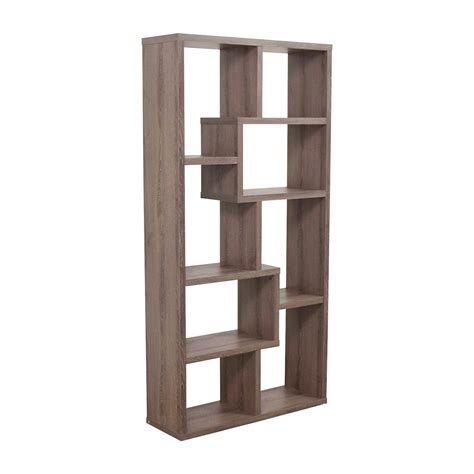 second hand bookcases for sale 59 off multi shape grey wood bookcase storage