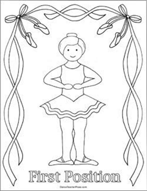 ballerina coloring pages first position ballet coloring sheet first position dance pinterest