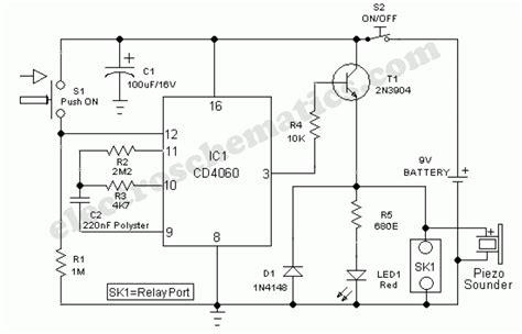 Timed Door Alarm by Door Timer Circuit With Alarm