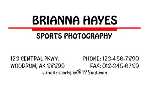 plain business card template word simple business card 2