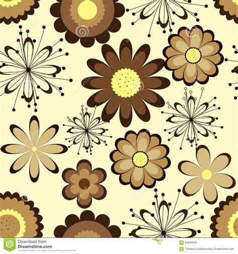 brown flower pattern floral seamless pattern brown flowers on light background