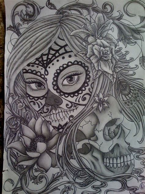 sugar girl tattoo designs 925 best sugar skulls images by april dikty ordoyne on