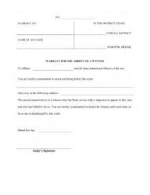 arrest warrant template printable warrant witness arrest pleading template