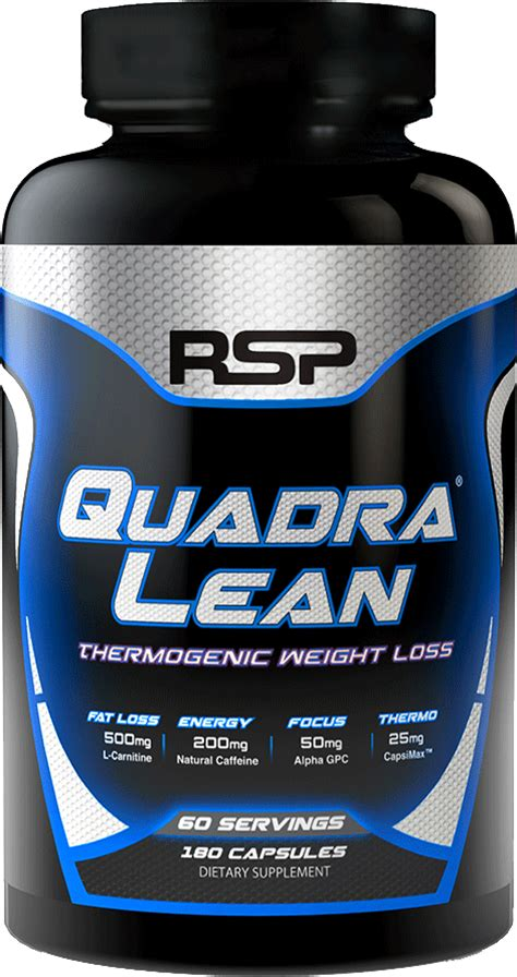 Rsp Amino Lean 30srvg rsp nutrition quadralean thermogenic 180 caps weight loss