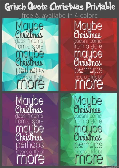 printable grinch quotes printable christmas quotes quotesgram