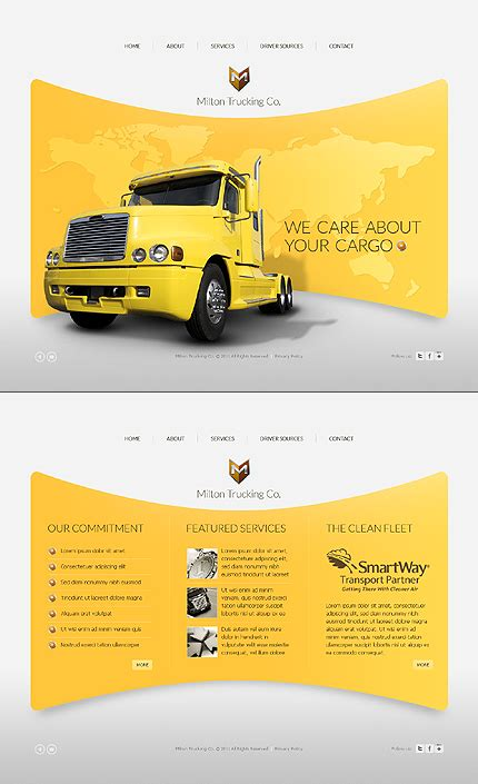 templates for yellow pages template 36874 trucking company fullscreen flash website