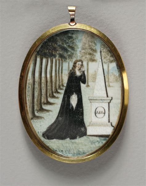 mourning locket albany institute  history  art