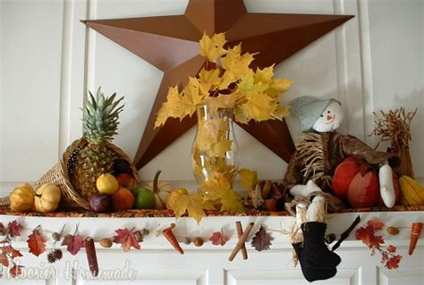 homemade thanksgiving decorations for the home thanksgiving mantle hoosier homemade