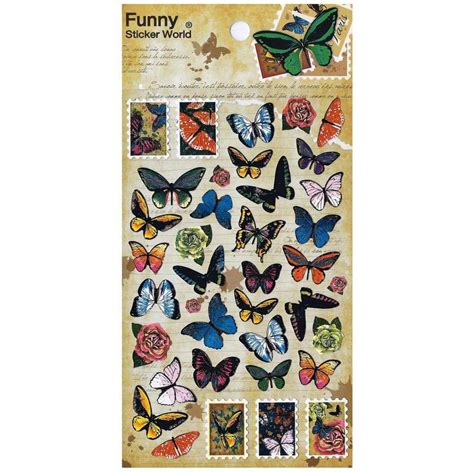 butterfly stickers sheet insect korean paper kid