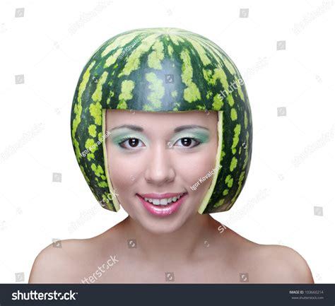 uzbek women stock photos uzbek women stock images alamy funny woman watermelon helmet on head stock photo