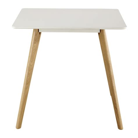 square dining table in white w 80cm june maisons du monde
