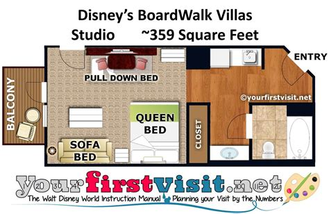 boardwalk villas one bedroom floor plan photo tour of a studio at disney s boardwalk villas